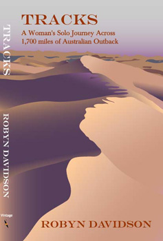 Sand dunes on cover for camel crossing of Australia in Tracks, Book Jacket Design and Illustration, graphic designer, creation, business marketing, non-fiction book cover designer