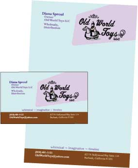 Toy Business Letterhead and Business Card