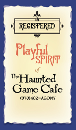 Preferred Customer Card in new business branding, graphic design for the Haunted Game Cafe.