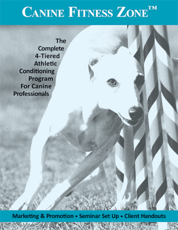 This cover was designed in InDesign for an animal physical therapy training program for sale by Canine Fitness Zone. The image was purchased, modified in Photoshop, and then laid out in InDesign for printed graphic use.