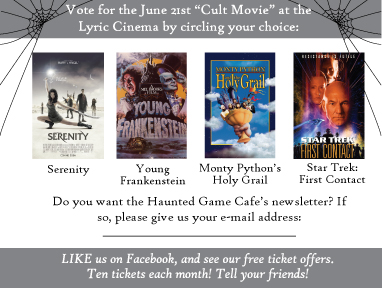 Custom graphic design for business. Helps customers vote for a movie.