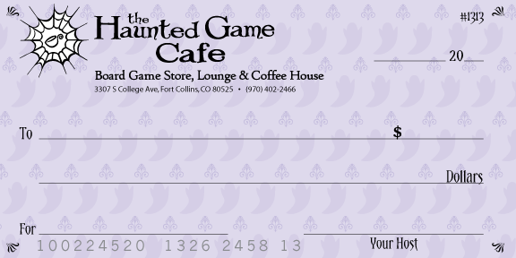 graphic design of large check